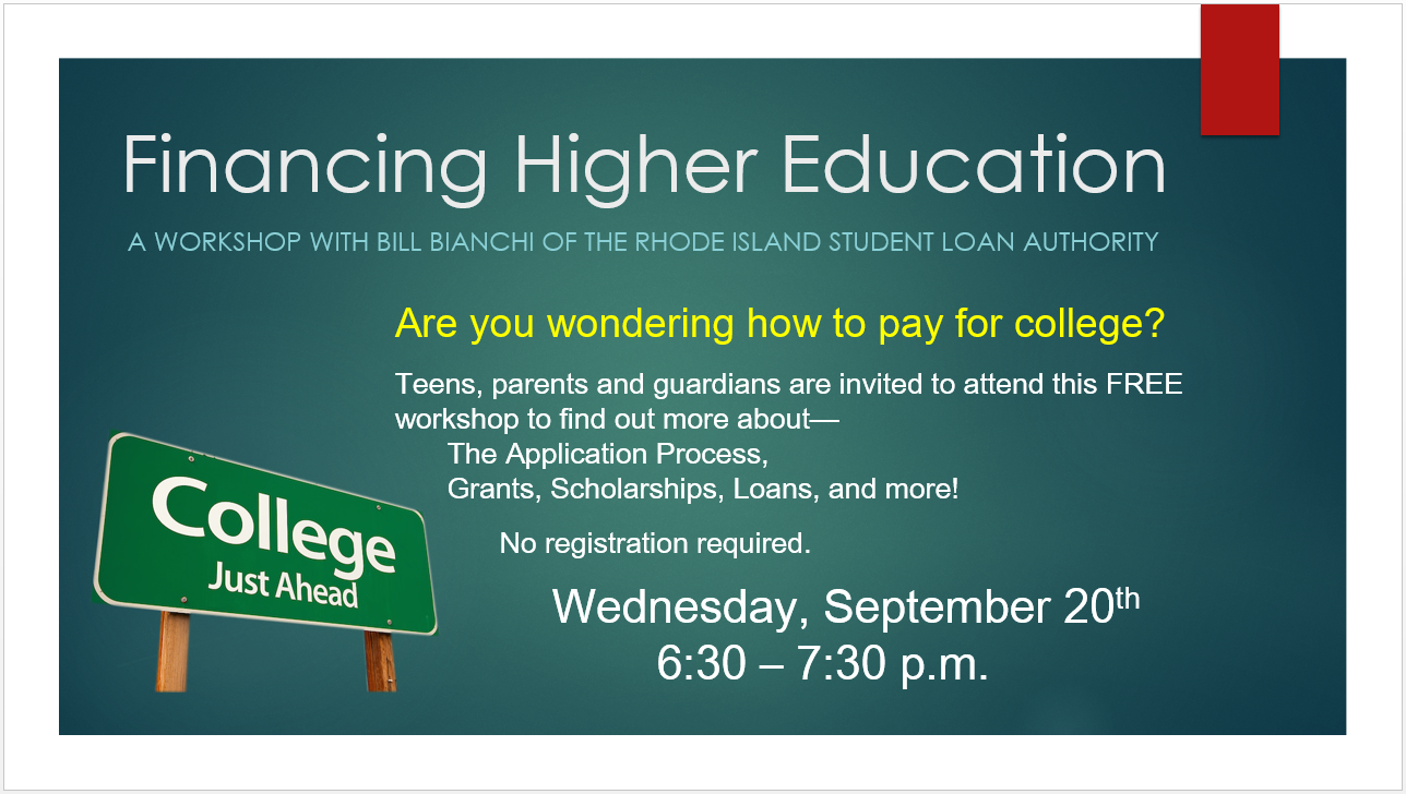 Financing Higher Education Workshop for Teens and Parents